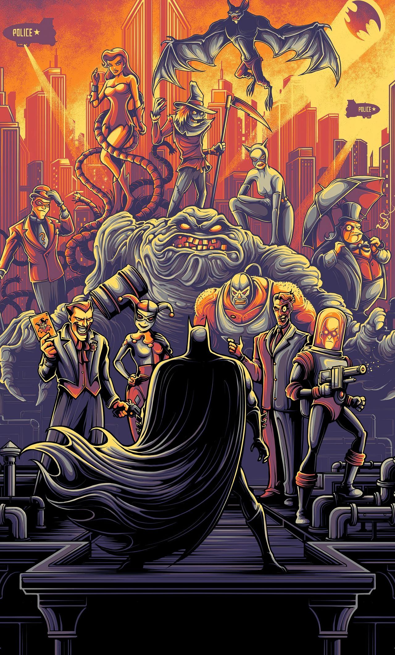 Batman Animated Series Iphone 1280x2120 Download Hd Wallpaper Wallpapertip