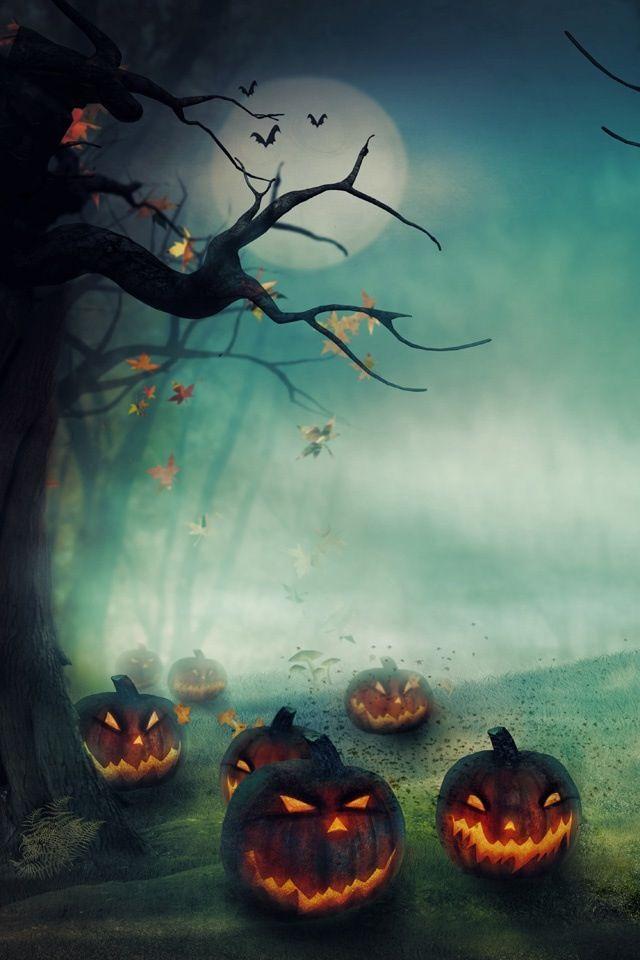 12 120063 halloween spooky pumpkin patch