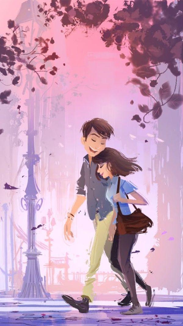 Couple Animation 600x1071 Download Hd Wallpaper Wallpapertip