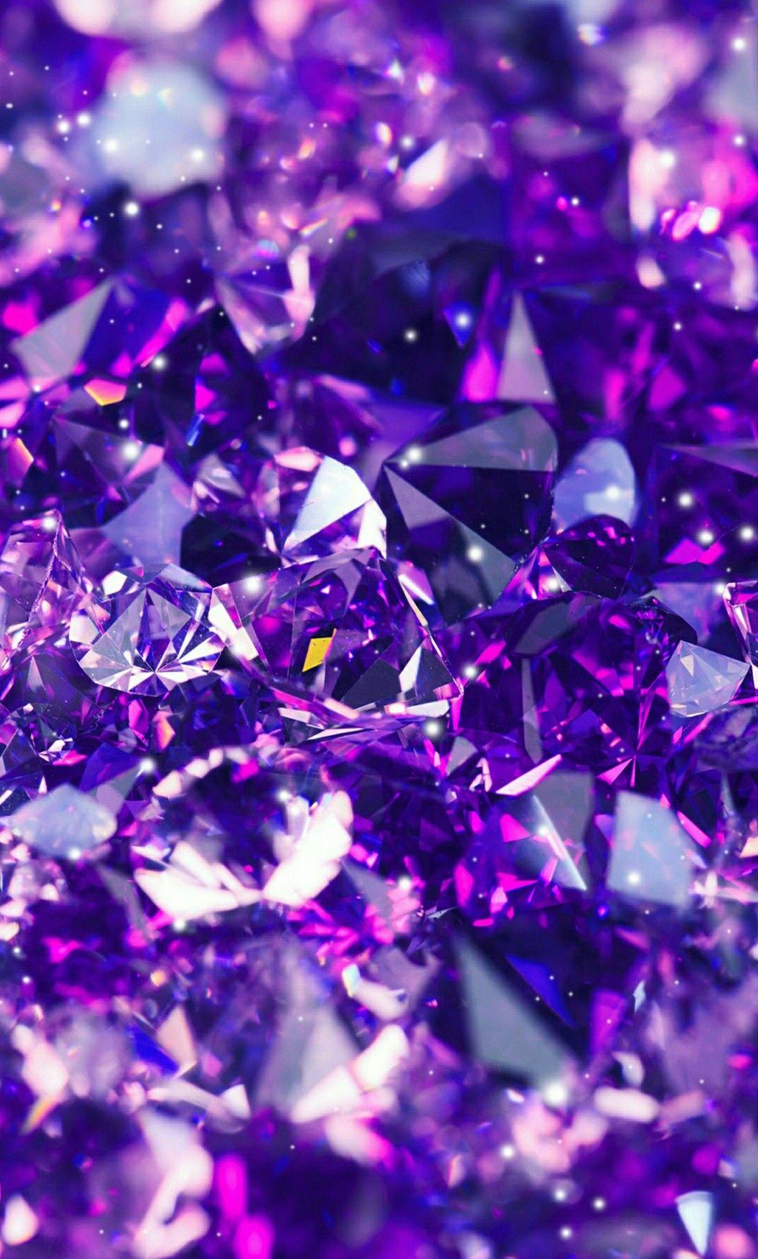 紫色のダイヤモンド 紫色のiphoneの壁紙 1080x1793 Wallpapertip