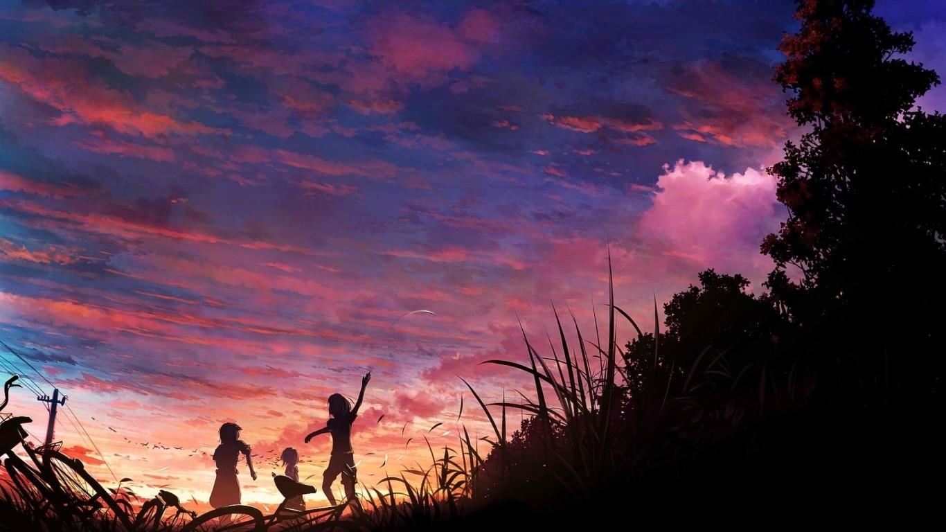 Anime Sky Wallpapers Hd Desktop And Mobile Backgrounds Desktop Sky Wallpaper Hd 1366x768 Download Hd Wallpaper Wallpapertip
