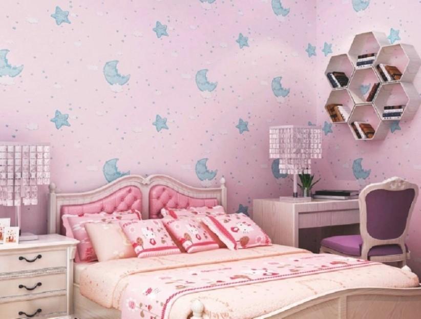 Wallpaper Dinding Kamar Tidur Anak Perempuan Wallpaper Purple Wallpaper For Girls Room 822x623 Download Hd Wallpaper Wallpapertip