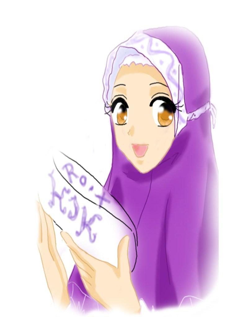 Gambar Wallpaper Anime Perempuan Mewarnai Gambar Anak Kartun Muslimah Lucu 768x1024 Download Hd Wallpaper Wallpapertip