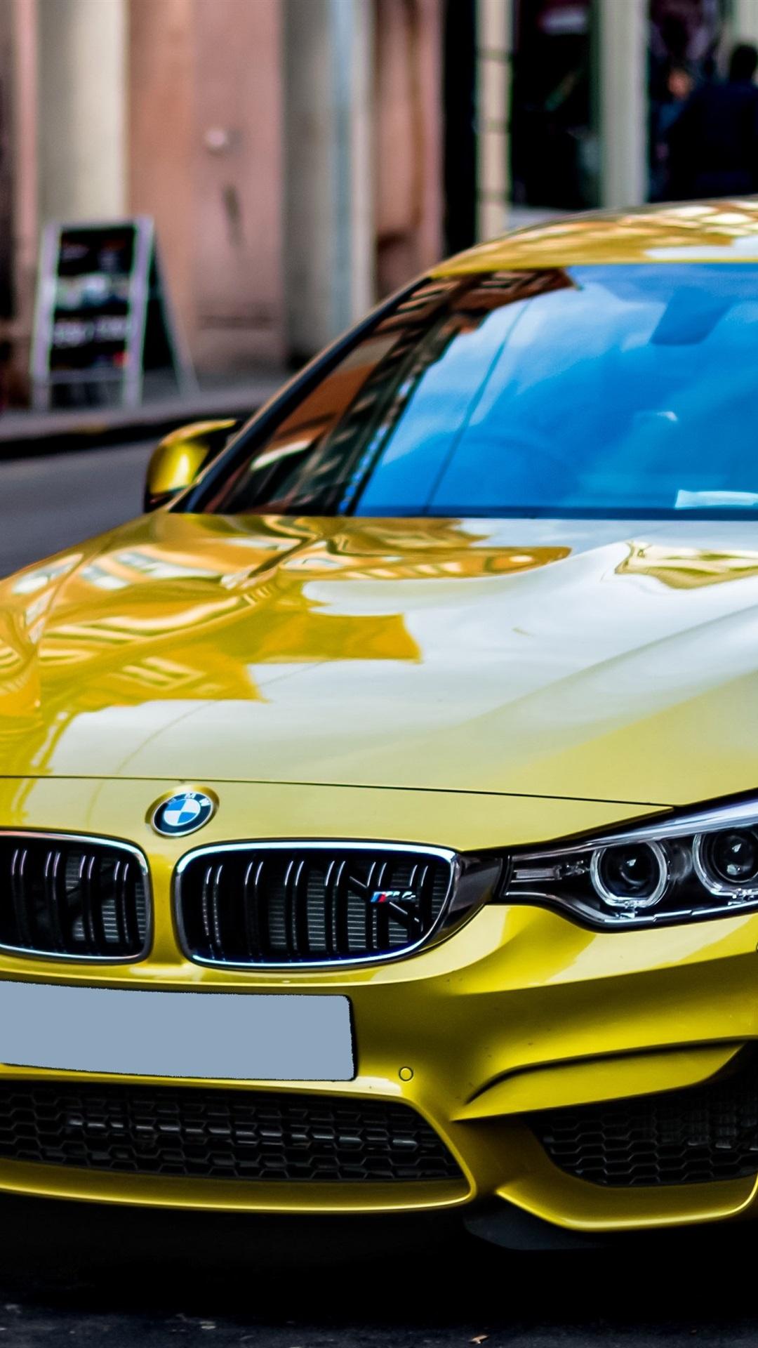 Iphone Wallpaper Yellow Bmw Car Stopped At Street Side Bmw M4 1080x1920 Download Hd Wallpaper Wallpapertip