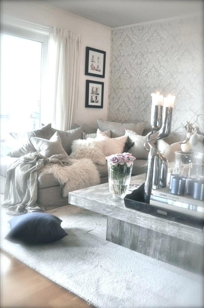 Grey And Silver White Living Room, Silver And White Living Room Ideas