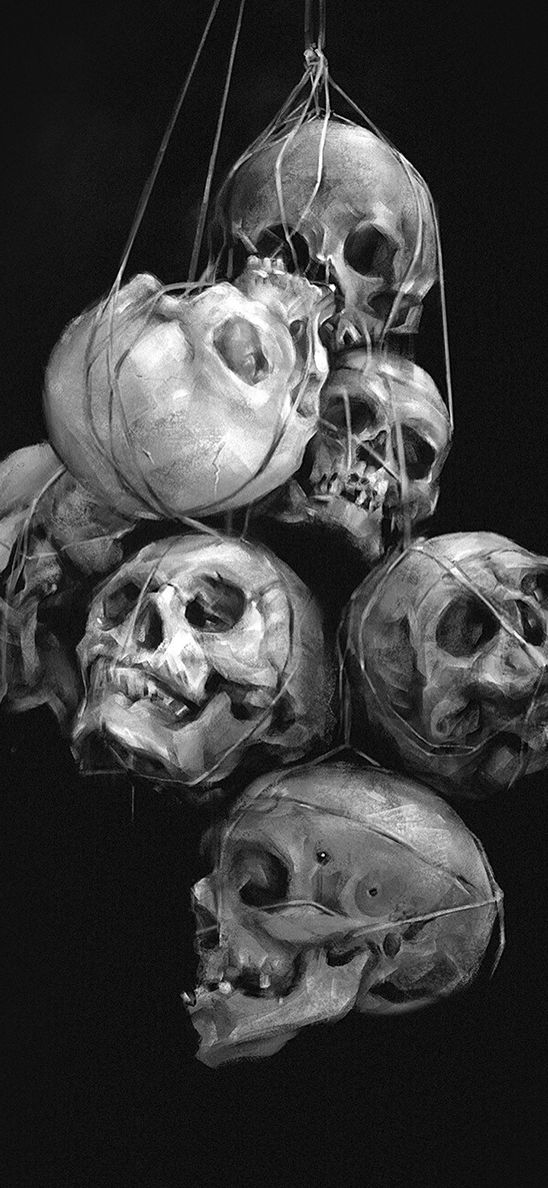 Black And White Aesthetic Halloween 1125x2436 Download Hd Wallpaper Wallpapertip