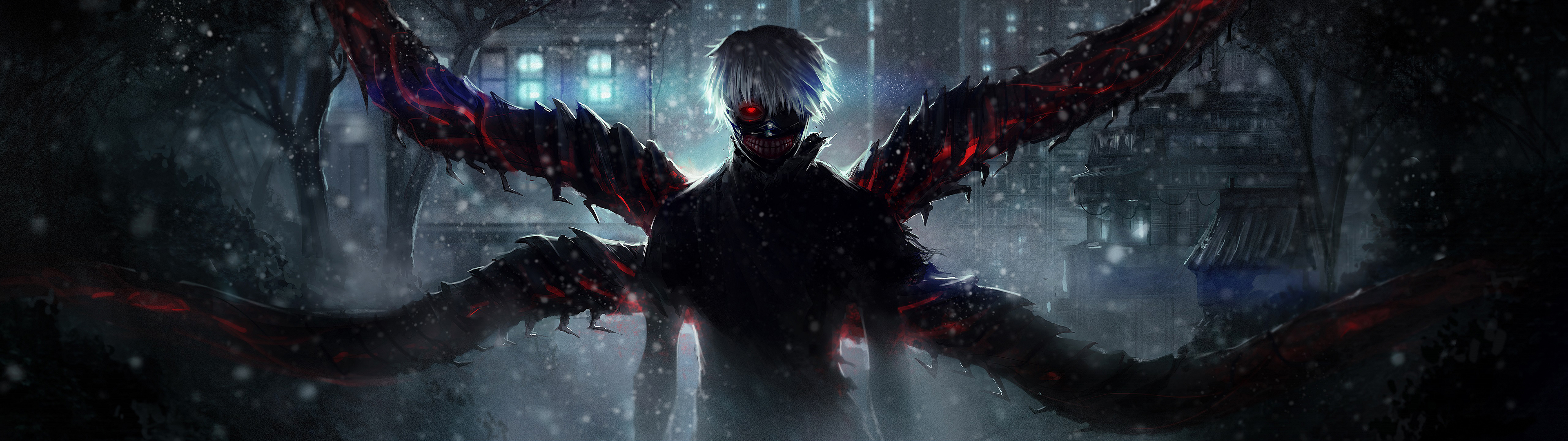 Dual Monitor Anime - Tokyo Ghoul Hd Wallper - 3840x1080 ...