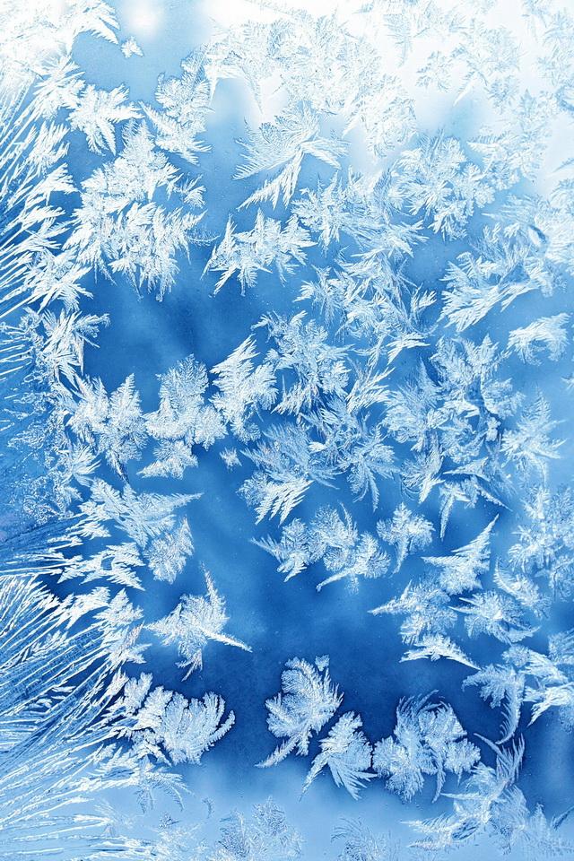 氷の結晶の壁紙iphone 氷の壁紙 640x960 Wallpapertip