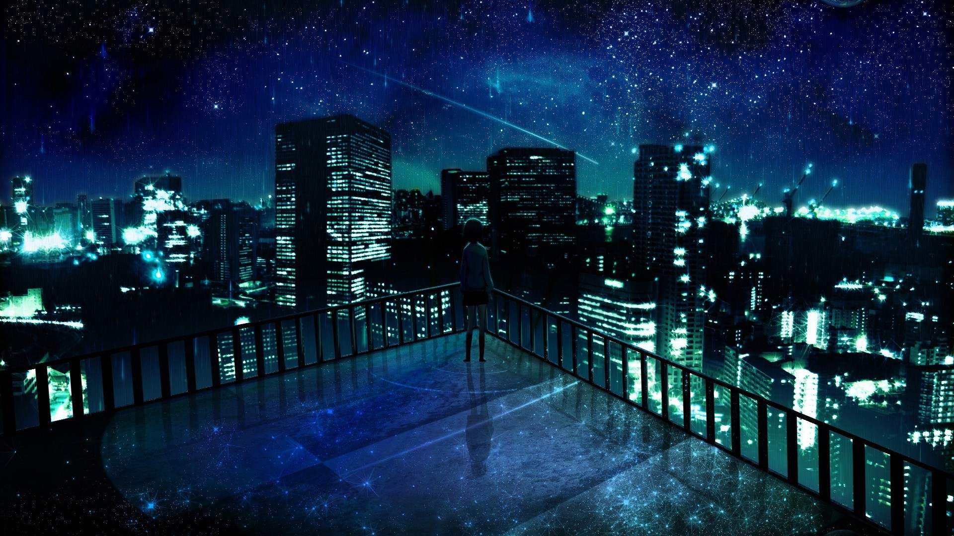 City Wallpaper Dark Anime Background Scenery 1920x1080 Download Hd Wallpaper Wallpapertip