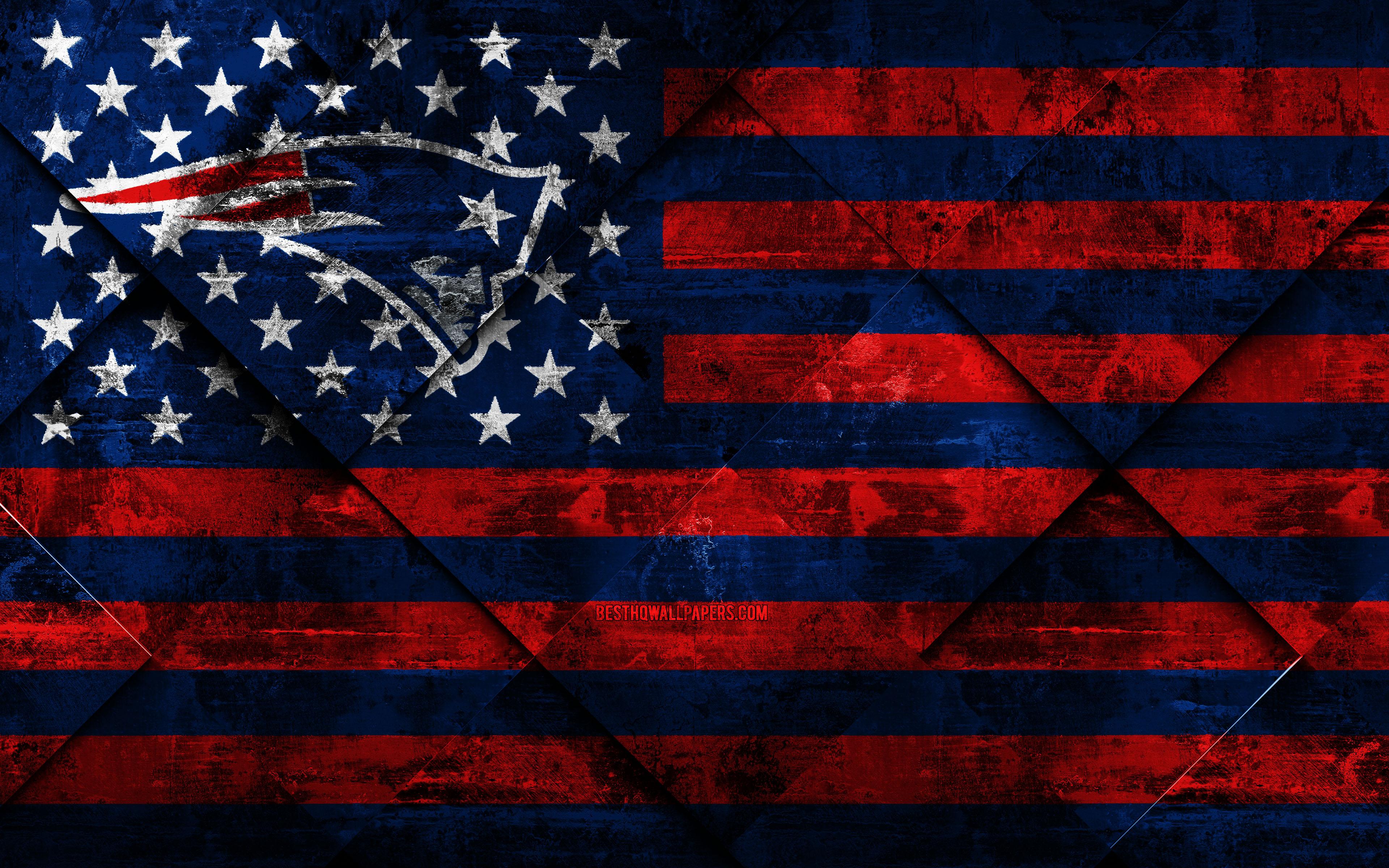 New England Patriots 4k American Football Club Grunge Braves American Flag 3840x2400 Download Hd Wallpaper Wallpapertip