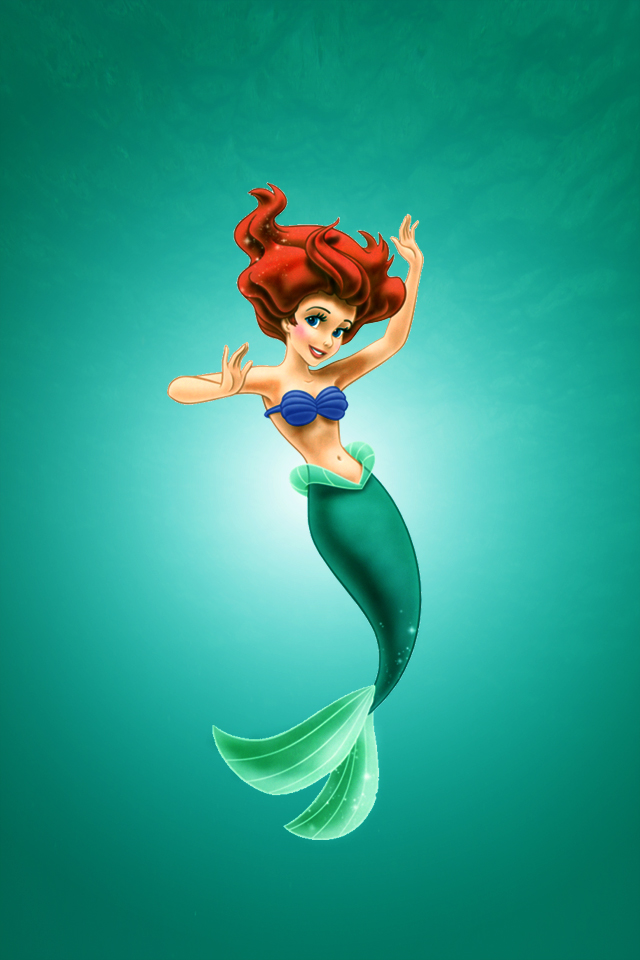 The Little Mermaid Wallpaper Iphone Iphone Mermaid Wallpaper Hd 640x960 Download Hd Wallpaper Wallpapertip