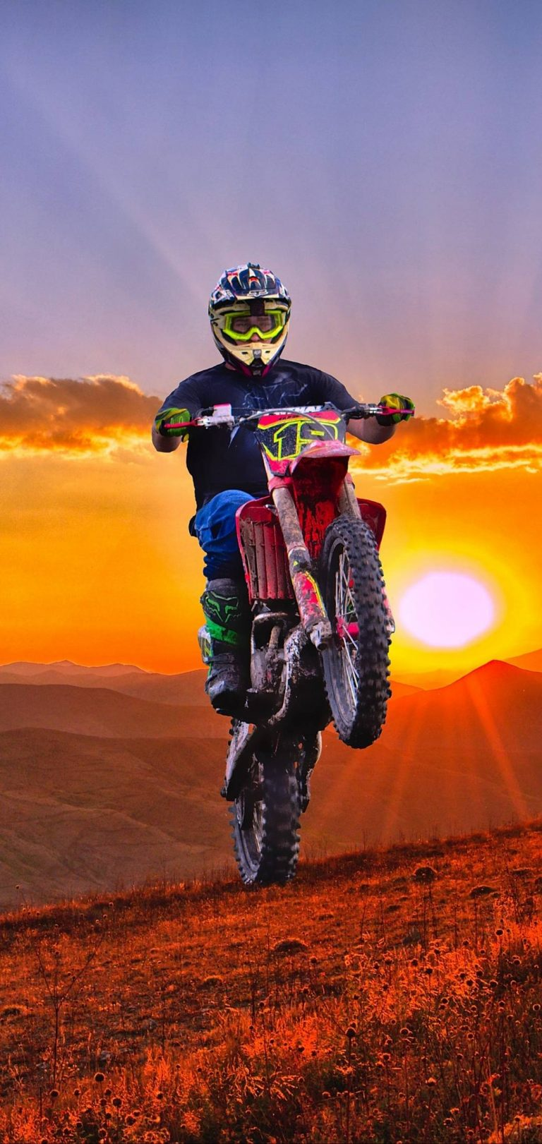 Sports Bike Jump Wallpaper Lock Screen Dirt Bike 768x1621 Download Hd Wallpaper Wallpapertip