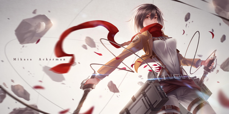 Mikasa Ackerman Wallpaper Hinh Attack On Titan 3000x1500 Download Hd Wallpaper Wallpapertip
