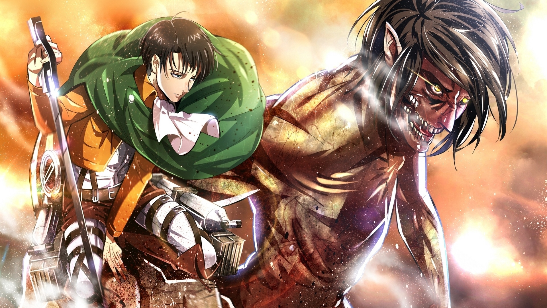 Attack On Titan Wallpaper Hd Levi 1920x1080 Download Hd Wallpaper Wallpapertip