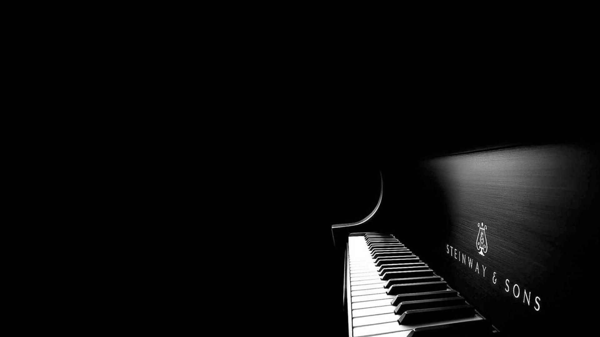 グランドピアノ黒背景 上品な壁紙 1366x768 Wallpapertip