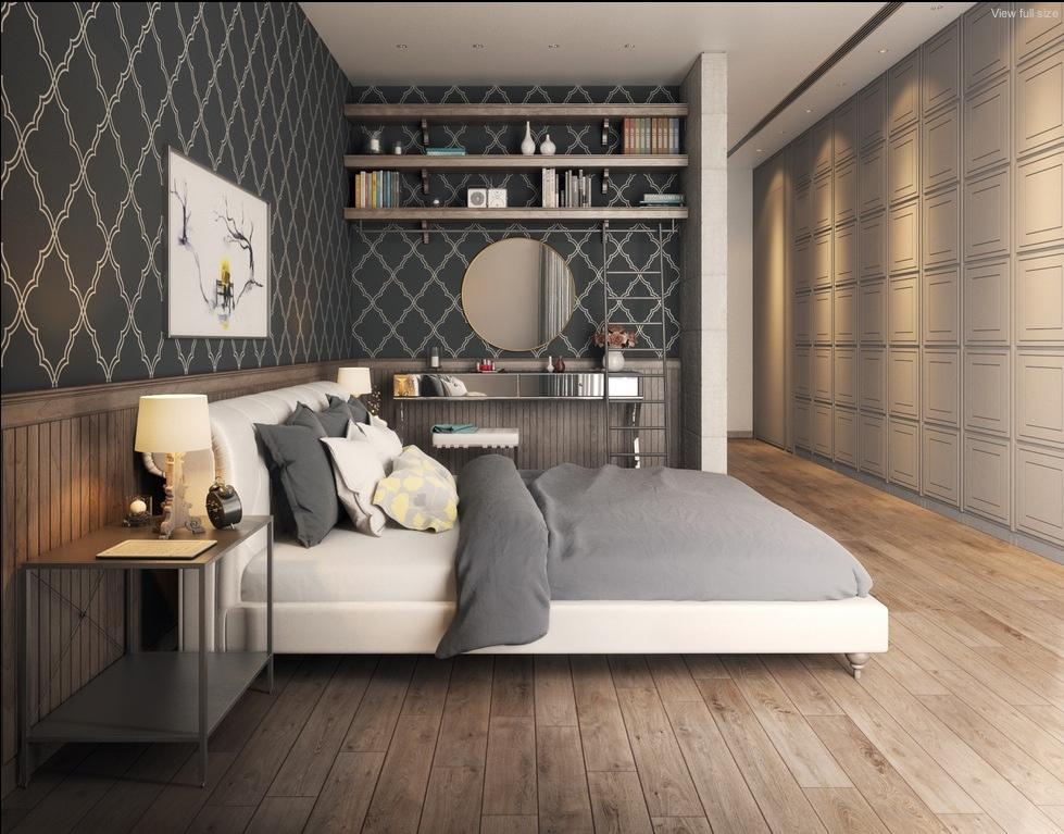 Edles Tapetendesign Fur Schlafzimmer Tapete Kamar 979x767 Wallpapertip