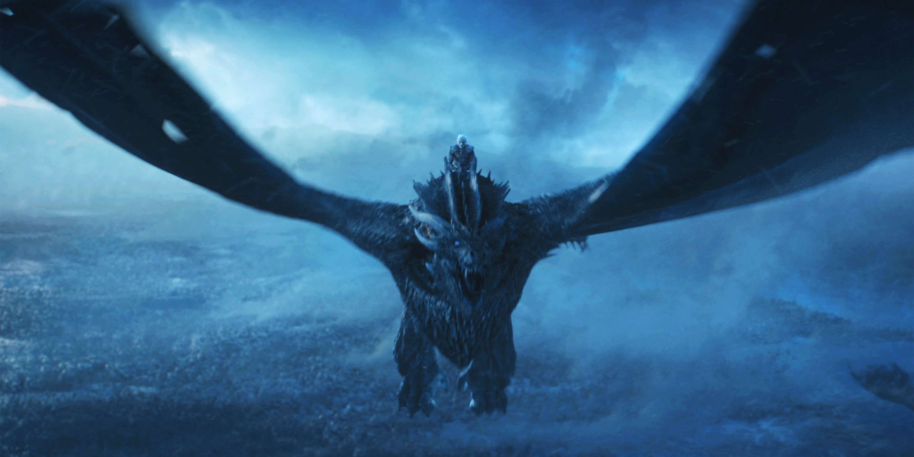 Is Viserion An Ice Dragon On Game Of Thrones Game Of Thrones Night King Dragon 3000x1500 Download Hd Wallpaper Wallpapertip