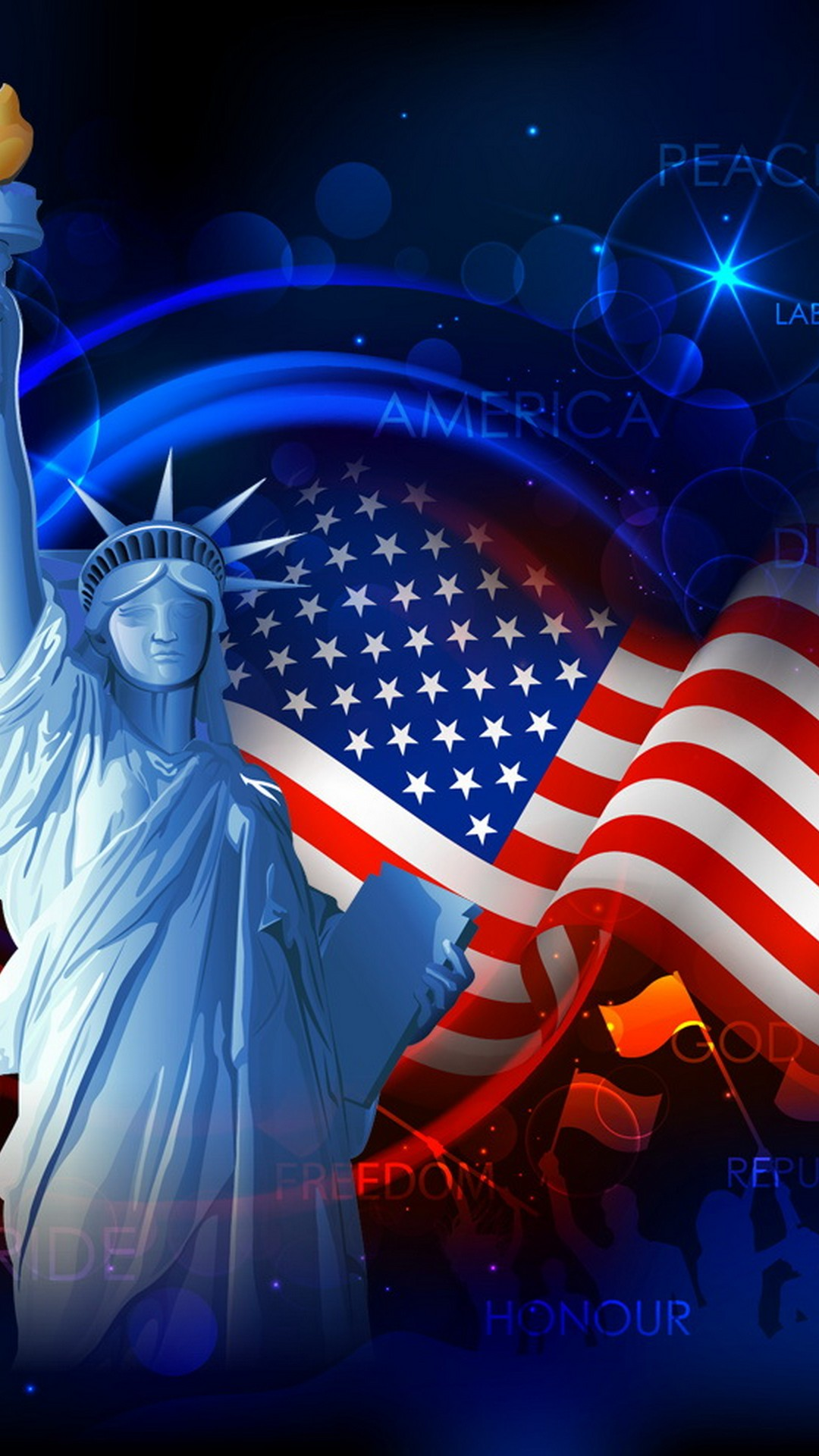 American Flag Phone Wallpaper With High ...
