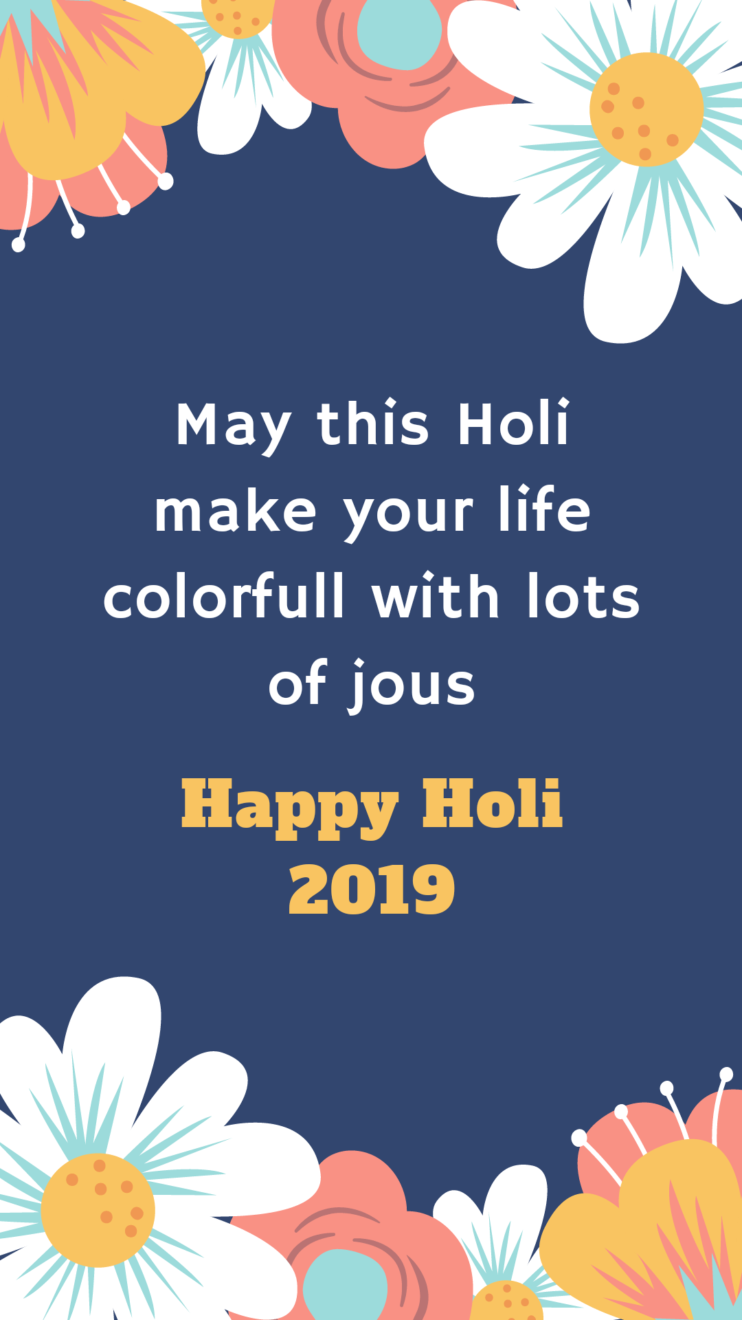 Happy Holi Wishes Whatsapp Good Morning Status In English 1080x1920 Download Hd Wallpaper Wallpapertip