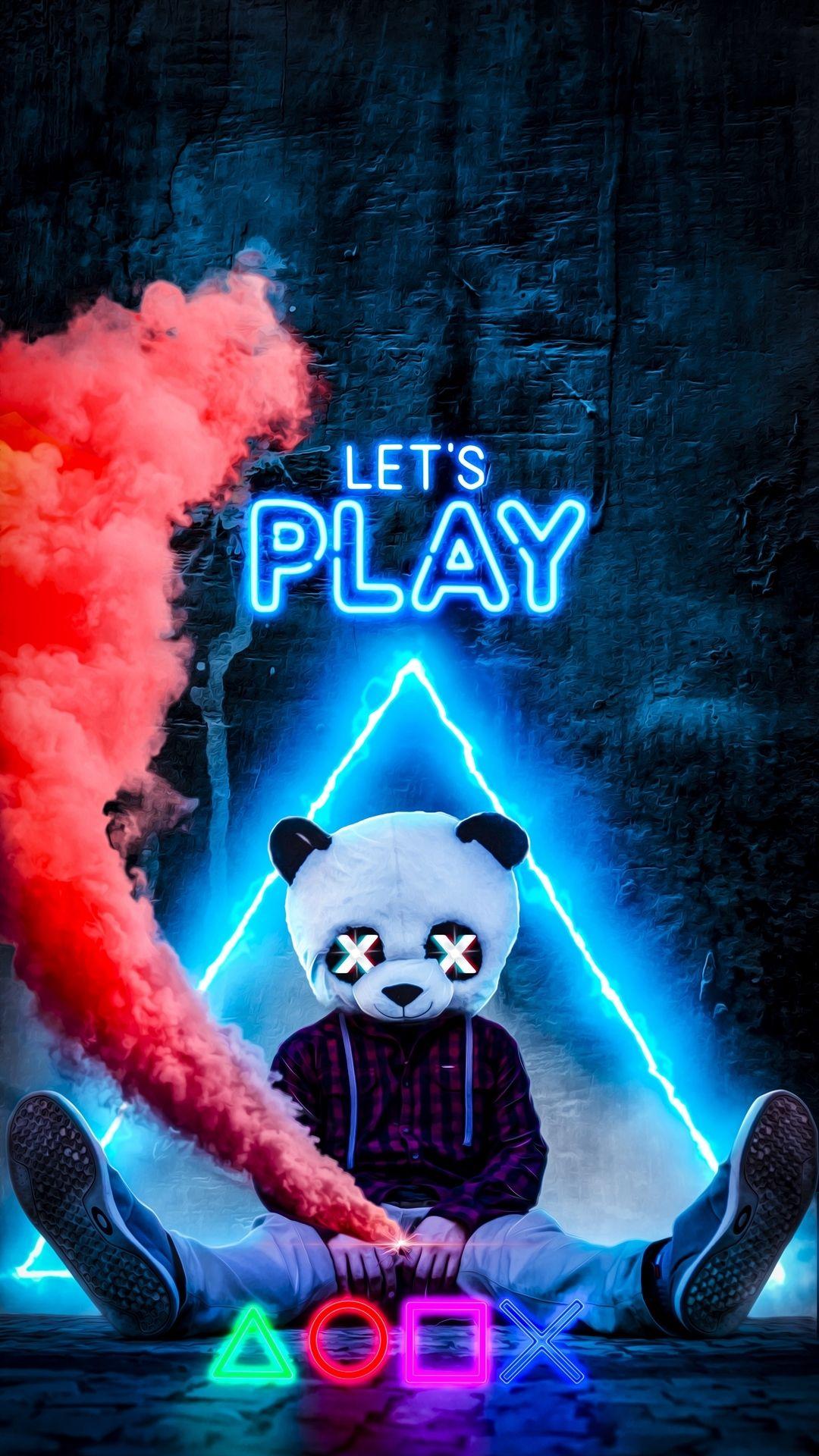 Neon Panda 1080x1920 Download Hd Wallpaper Wallpapertip
