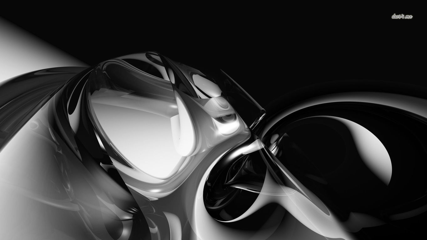 ブラックシルバー3d 黒と銀の壁紙 1366x768 Wallpapertip