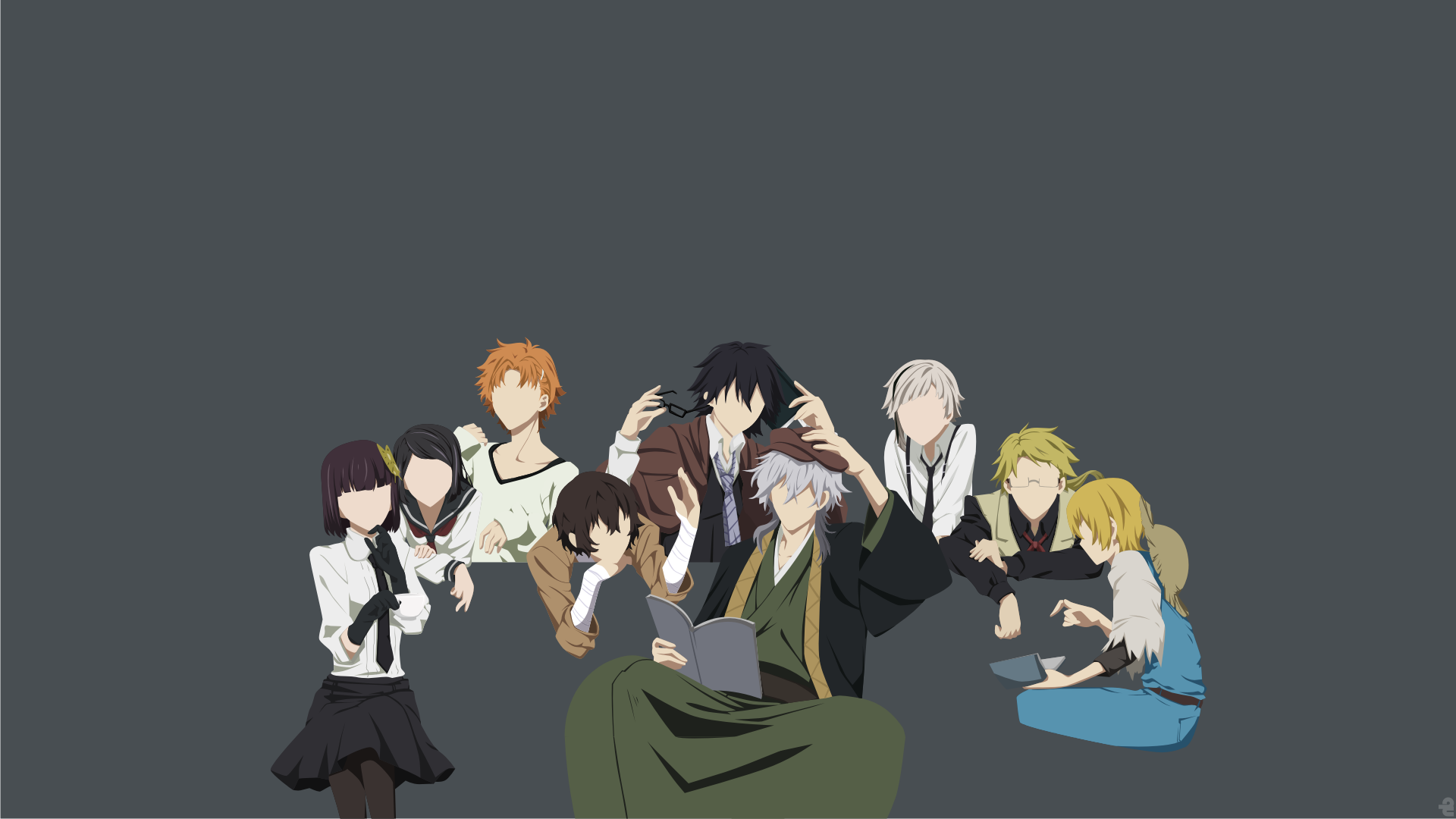 150 1500908 bungou stray dogs wallpaper minimalist