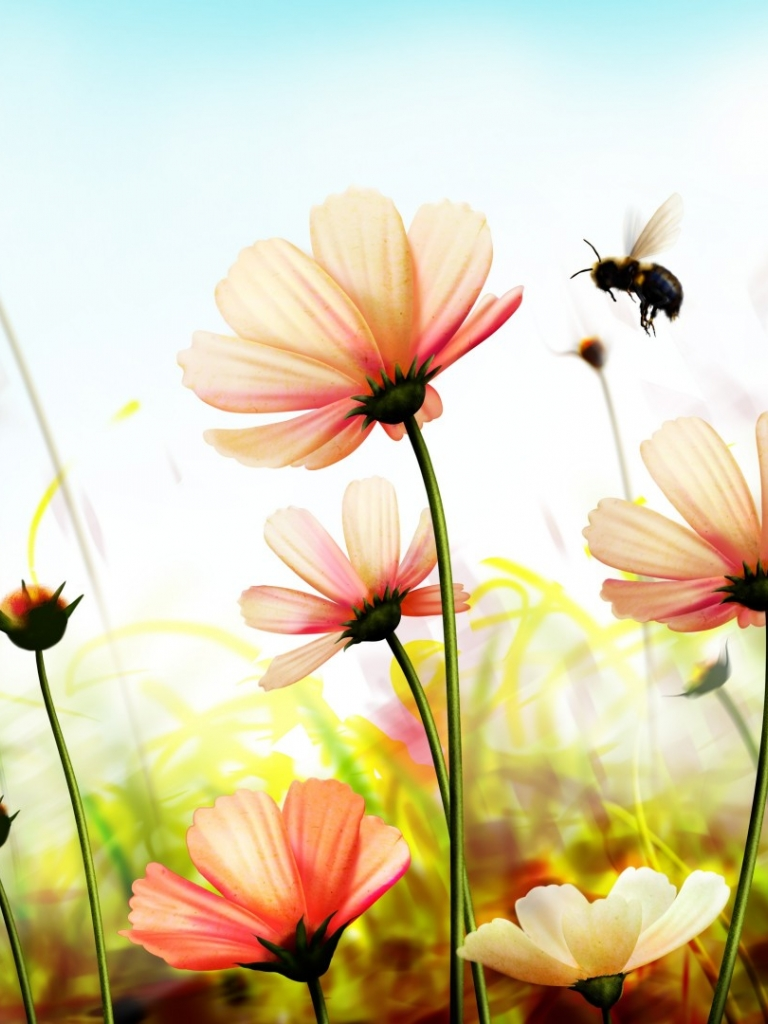 Nature Flowers Hd Wallpapers Backgrounds Of Your Choice Nature Flower Images Hd 768x1024 Download Hd Wallpaper Wallpapertip