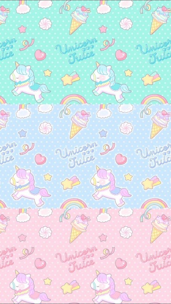 Home Screen Wallpaper For Girls Cute Unicorn Pastel Background 675x1200 Download Hd Wallpaper Wallpapertip