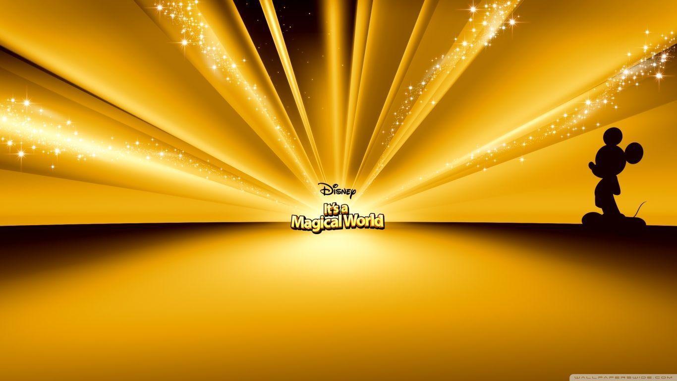 Mickey Mouse Disney Gold Hd Desktop Wallpaper High Resolution Gold Wallpaper Hd 1366x768 Download Hd Wallpaper Wallpapertip