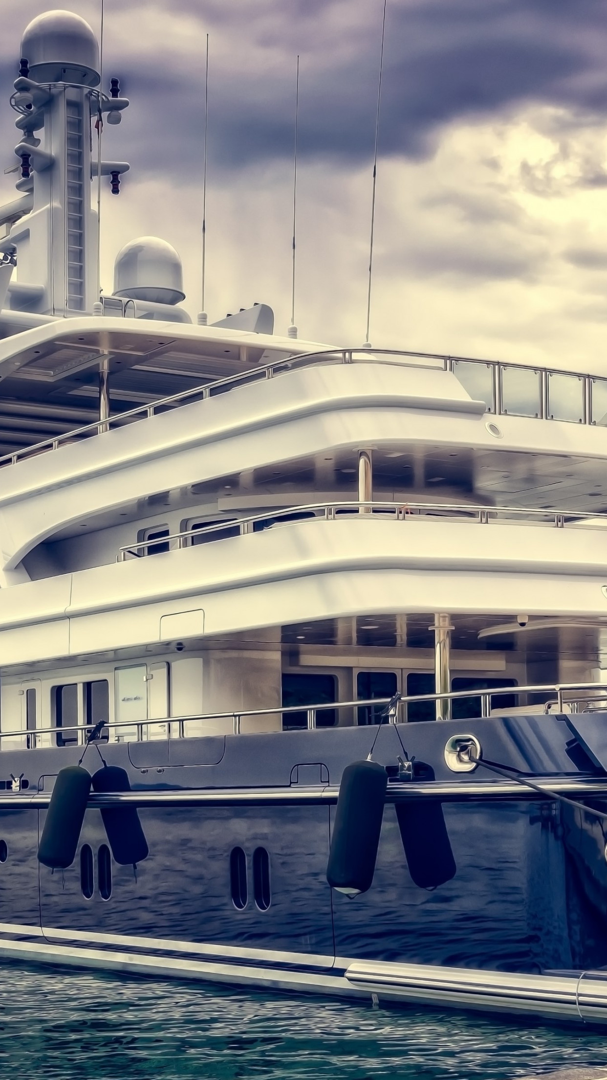 Super Yacht In Harbour Wallpaper Yacht Wallpaper 4k Iphone 1242x2208 Download Hd Wallpaper Wallpapertip