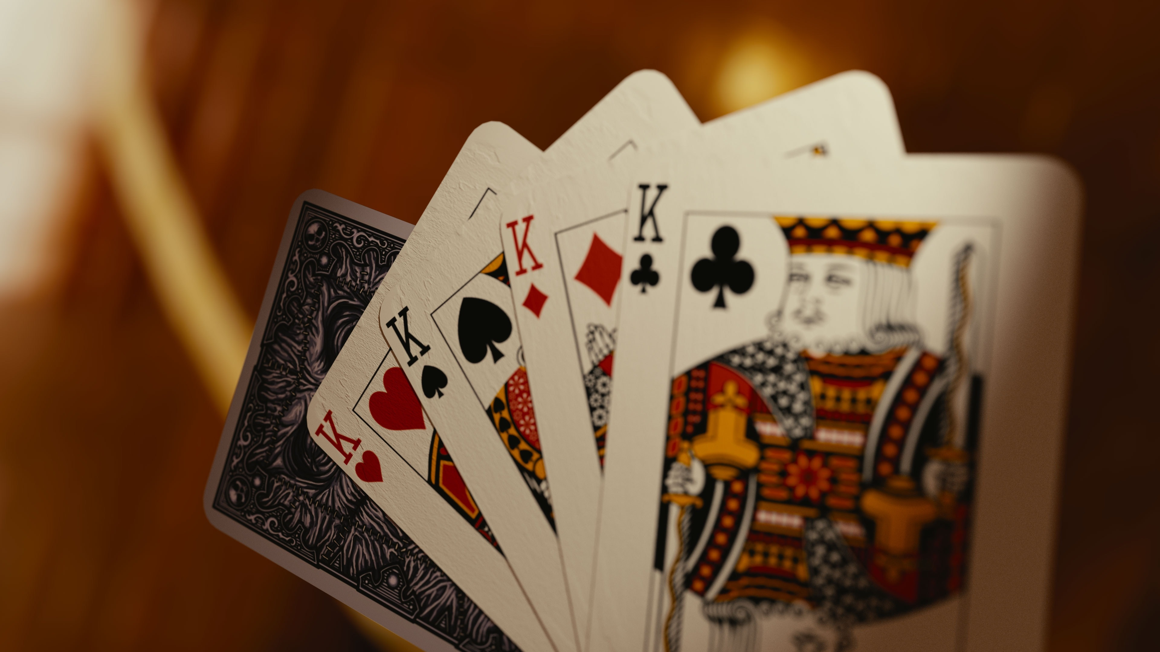 4 Kings Playing Cards Cards Play 3840x2160 Download Hd Wallpaper Wallpapertip