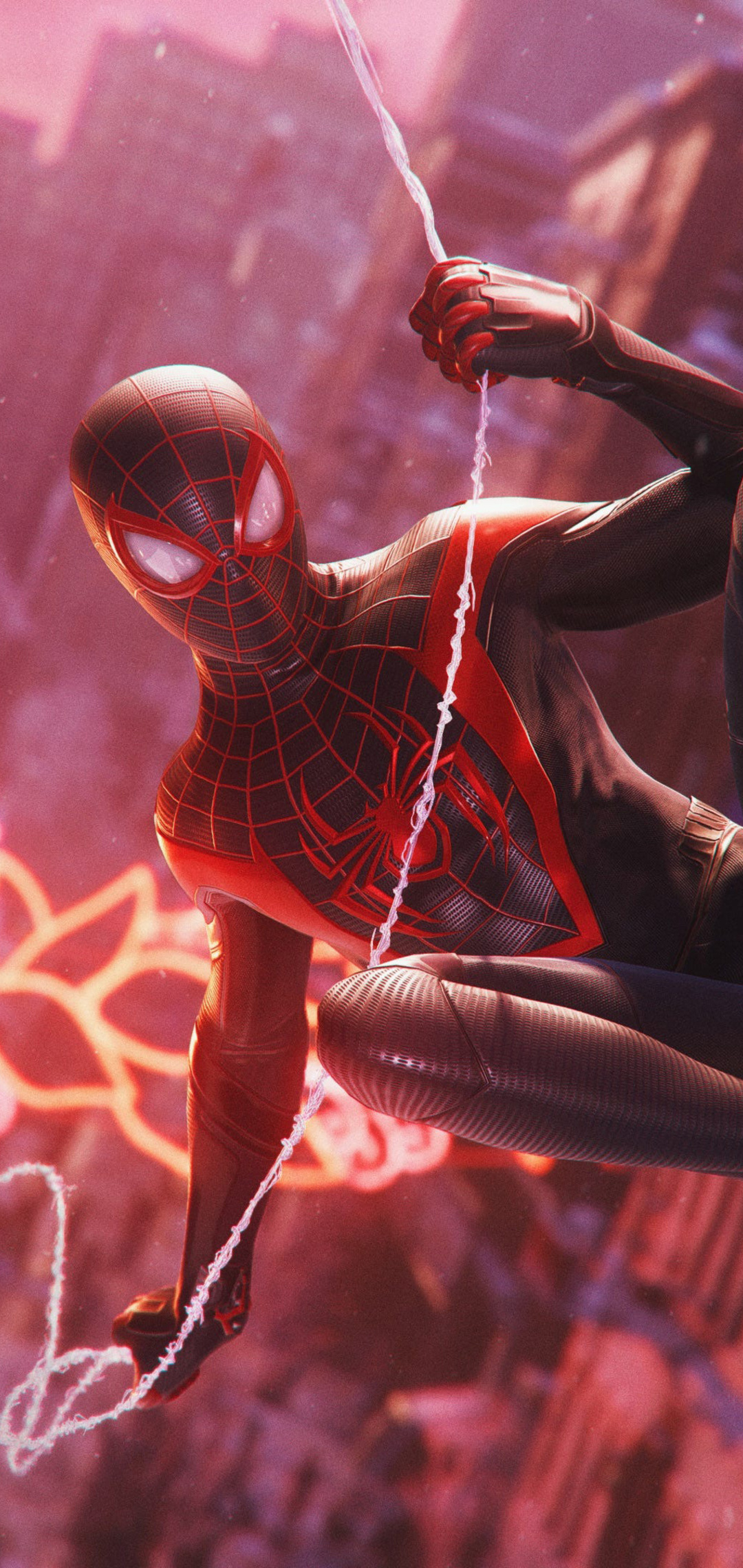 Spiderman Iphone 11 Pro Max Wallpaper Marvel Spider Man Miles Morales 1080x2280 Download Hd Wallpaper Wallpapertip