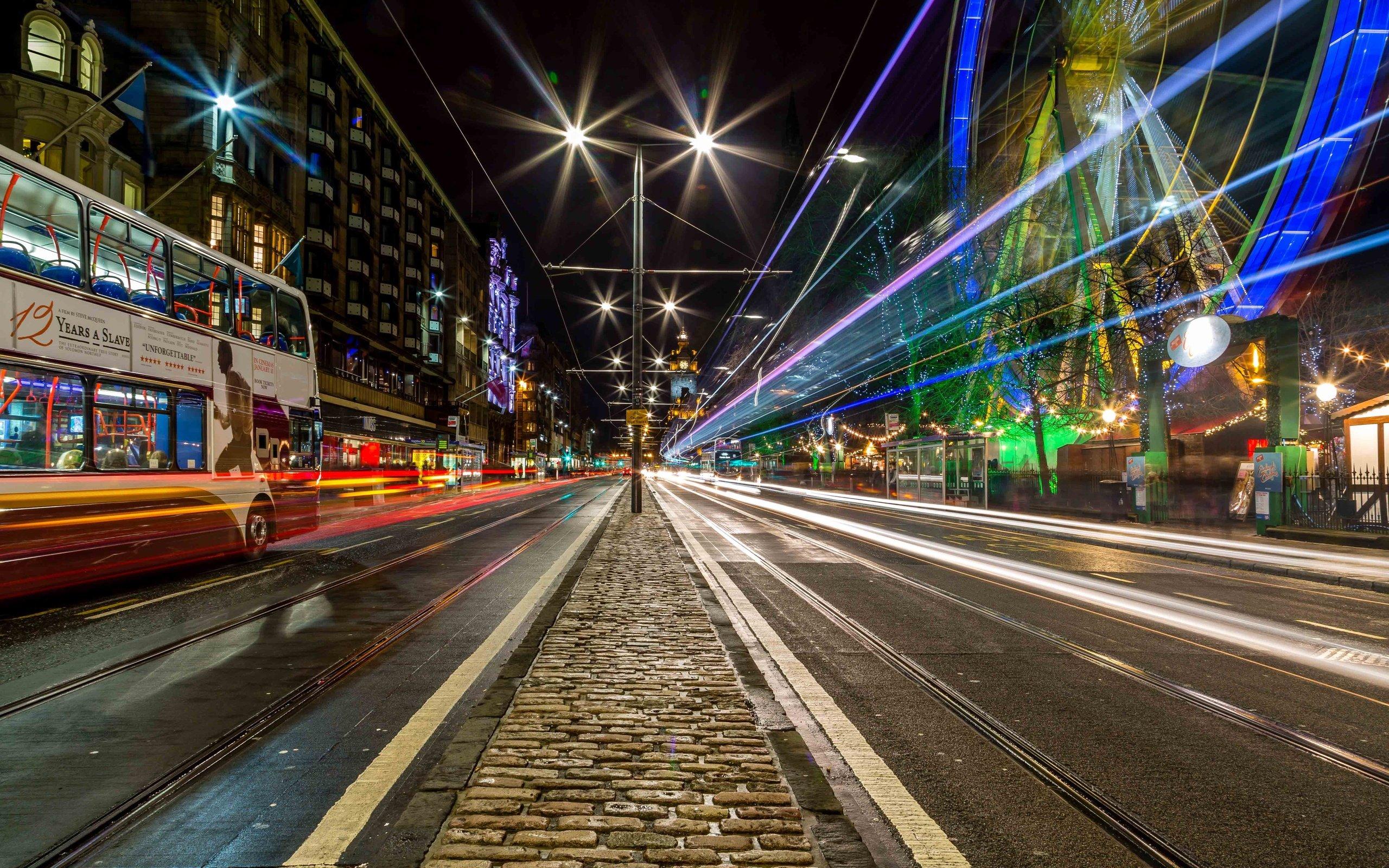 Edinburgh City Night Road City Wallpaper - City Highway Background Hd -  2560x1600 - Download HD Wallpaper - WallpaperTip