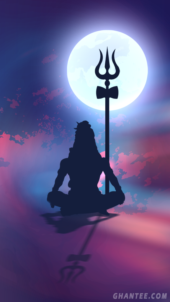 Lord Shiva Silhouette Phone Wallpaper 1080p Lord Shiva Full Hd 576x1024 Download Hd Wallpaper Wallpapertip