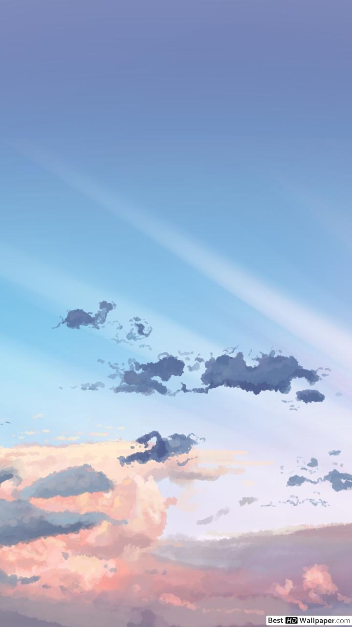 Anime Sky Wallpaper 4k 720x1280 Download Hd Wallpaper Wallpapertip