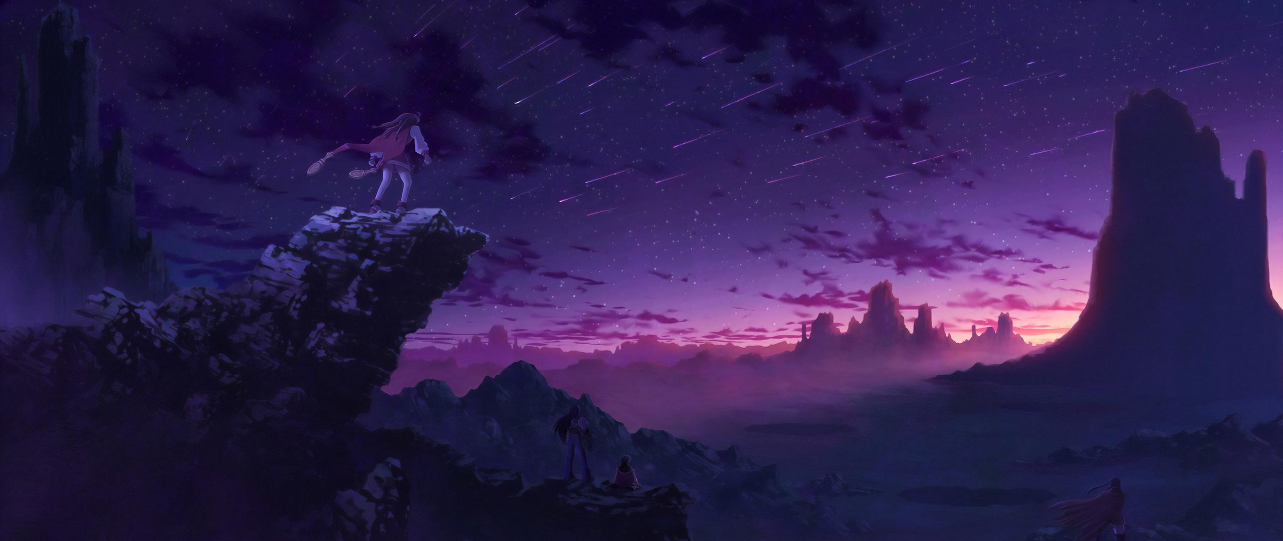 Purple Anime Sky 2560x1080 Download Hd Wallpaper Wallpapertip