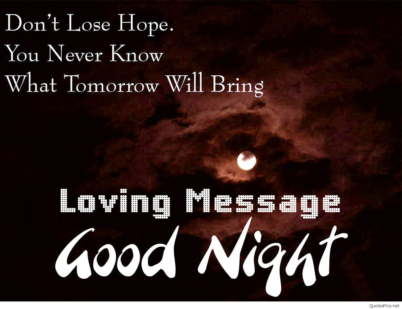 Good Night Message With Love Quotes 1600x1230 Download Hd Wallpaper Wallpapertip