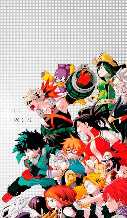 My Hero Academia Villains Heroes 500x859 Download Hd Wallpaper Wallpapertip