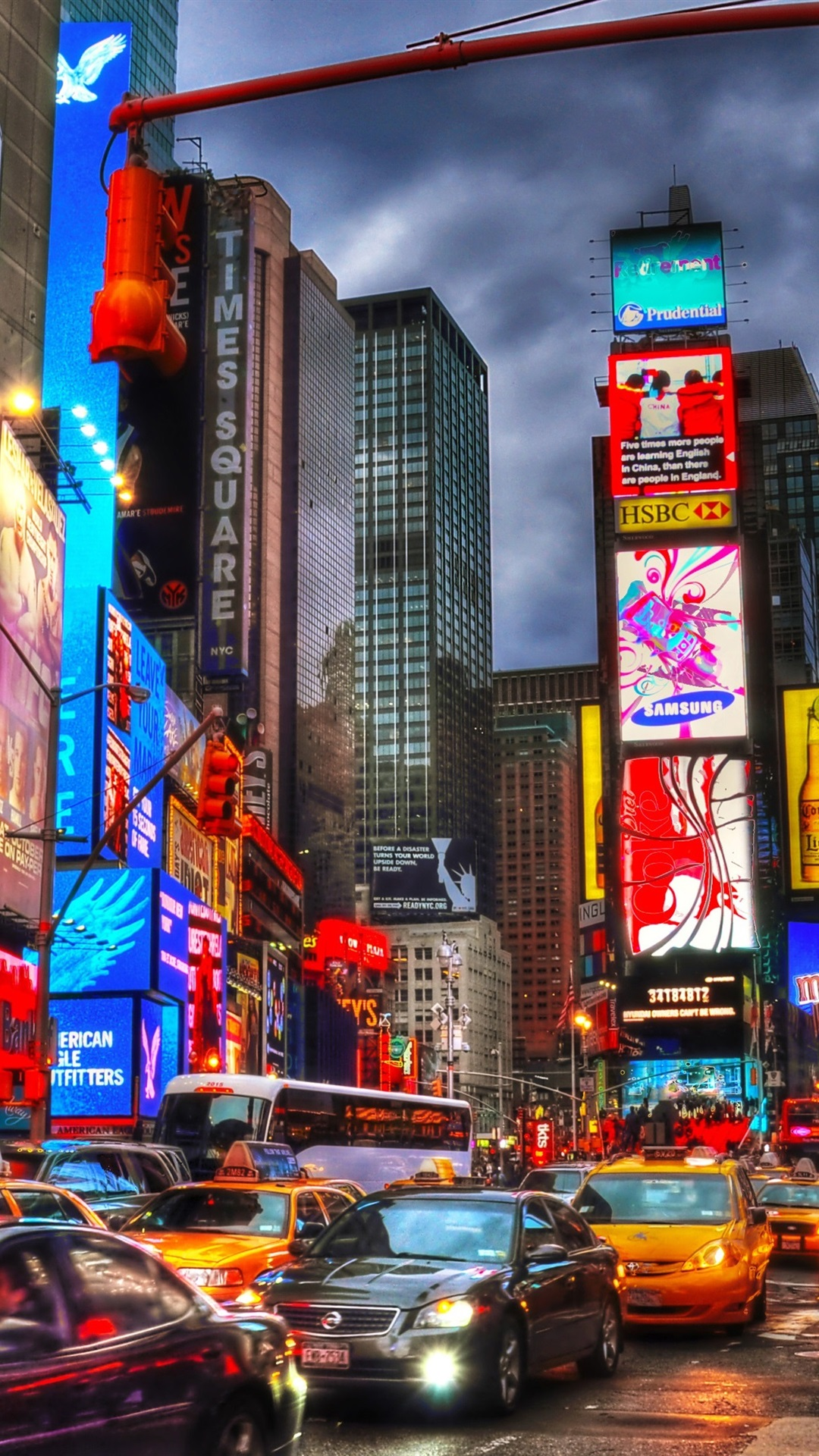 Iphone Wallpaper New York City Times Square Night Times Square 1080x1920 Download Hd Wallpaper Wallpapertip
