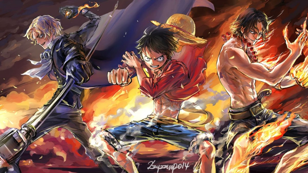 Gambar Keren One Piece Luffy Ace Sabo 1200x675 Download Hd Wallpaper Wallpapertip