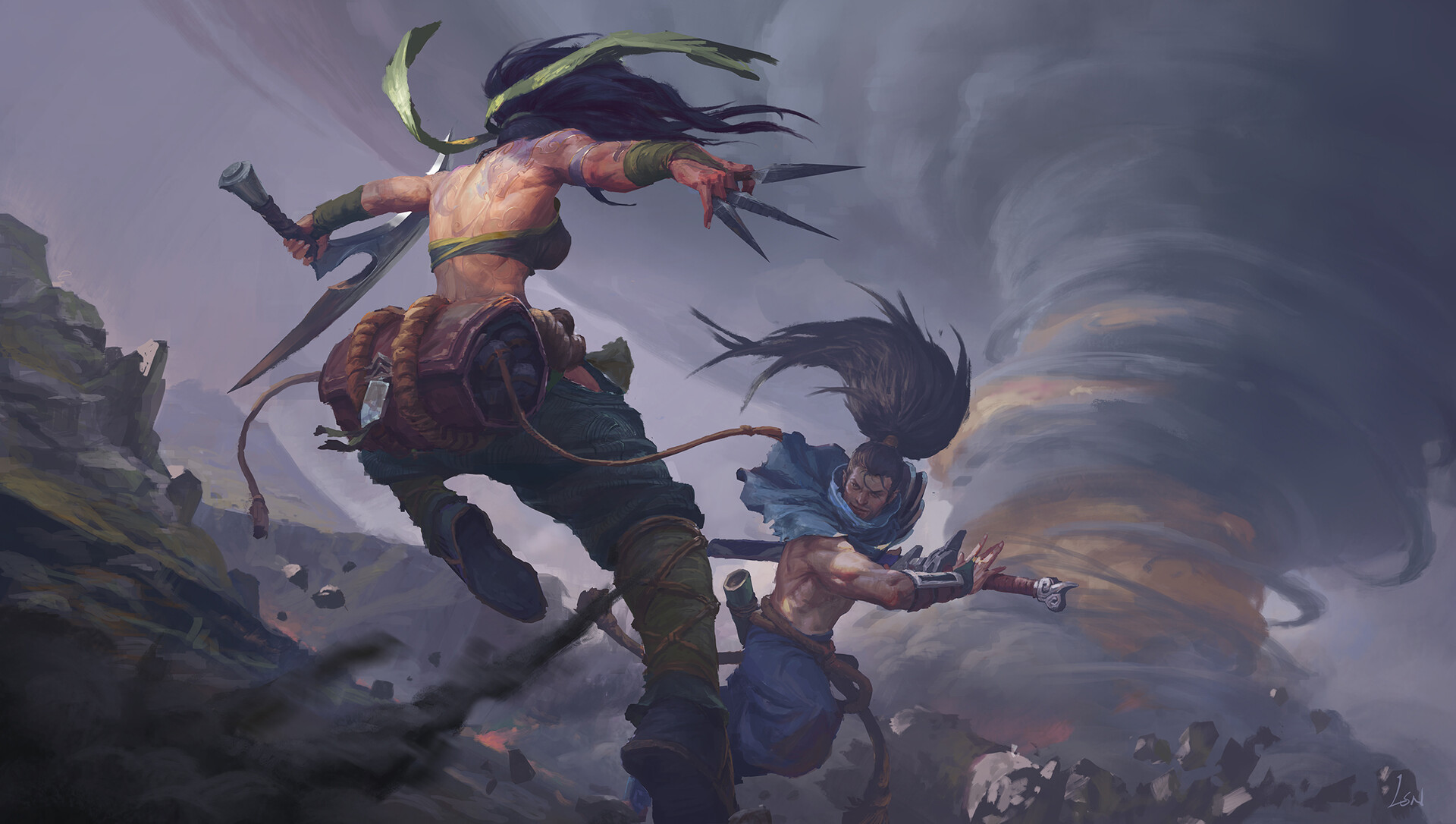 Video Game League Of Legends Akali Hd Wallpaper Background Akali Yasuo 1920x1086 Download Hd Wallpaper Wallpapertip