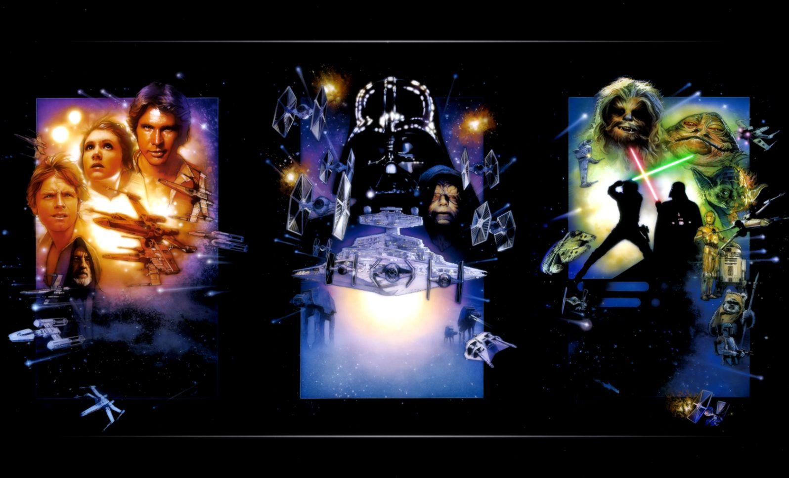 The Star Wars Trilogy Computer Wallpapers Desktop Backgrounds Star Wars Episode V The Empire Strikes Back Cover 1596x966 Download Hd Wallpaper Wallpapertip