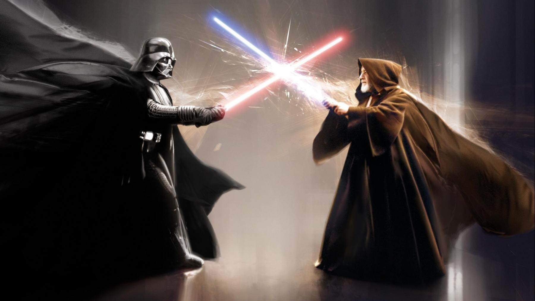 Star Wars Obiwan Vs Darth Vader 1800x1013 Download Hd Wallpaper Wallpapertip