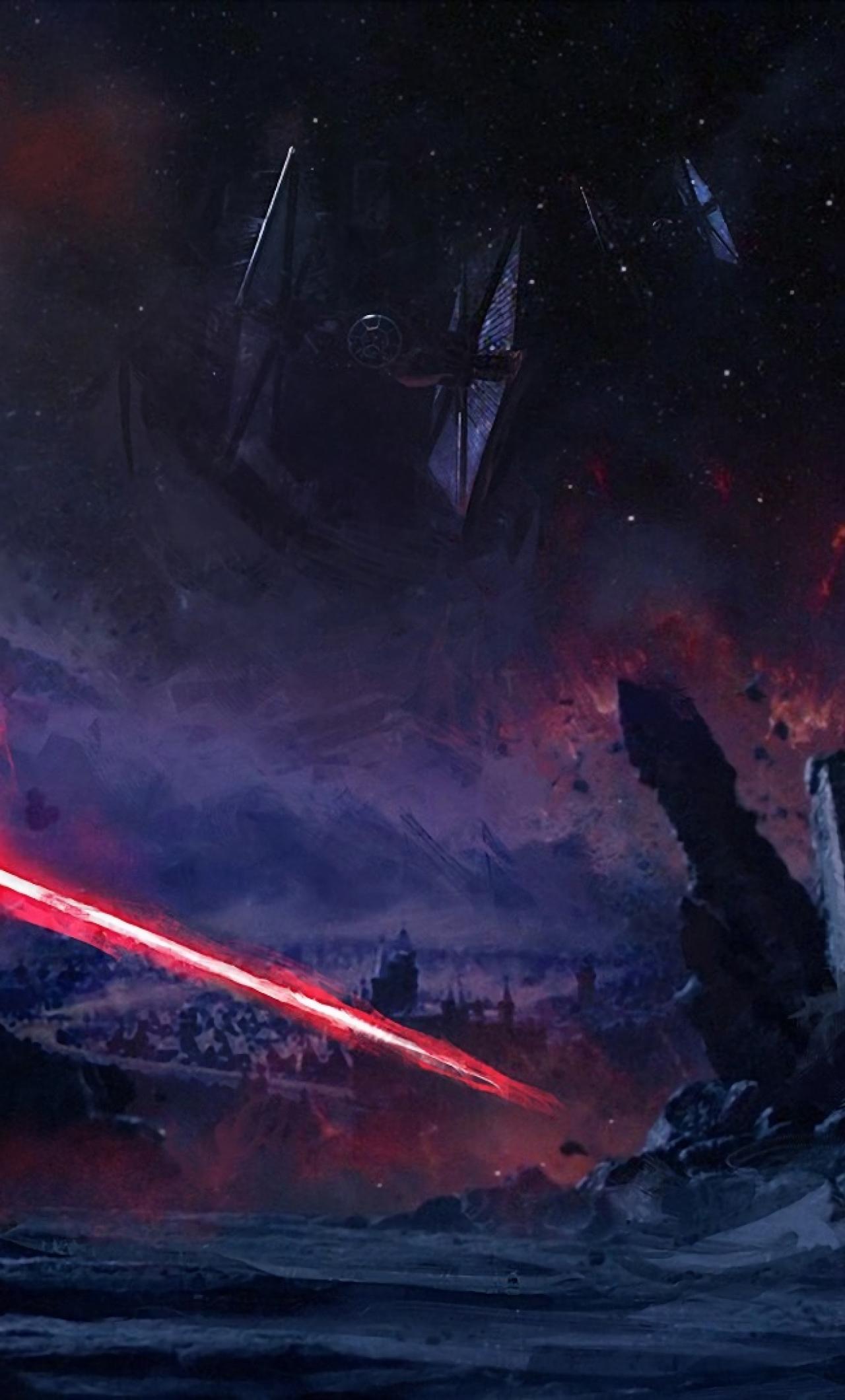 Kylo Ren Star Wars Art Iphone 6 Plus Wallpaper Hd Hd Star Wars 9 1280x2120 Download Hd Wallpaper Wallpapertip