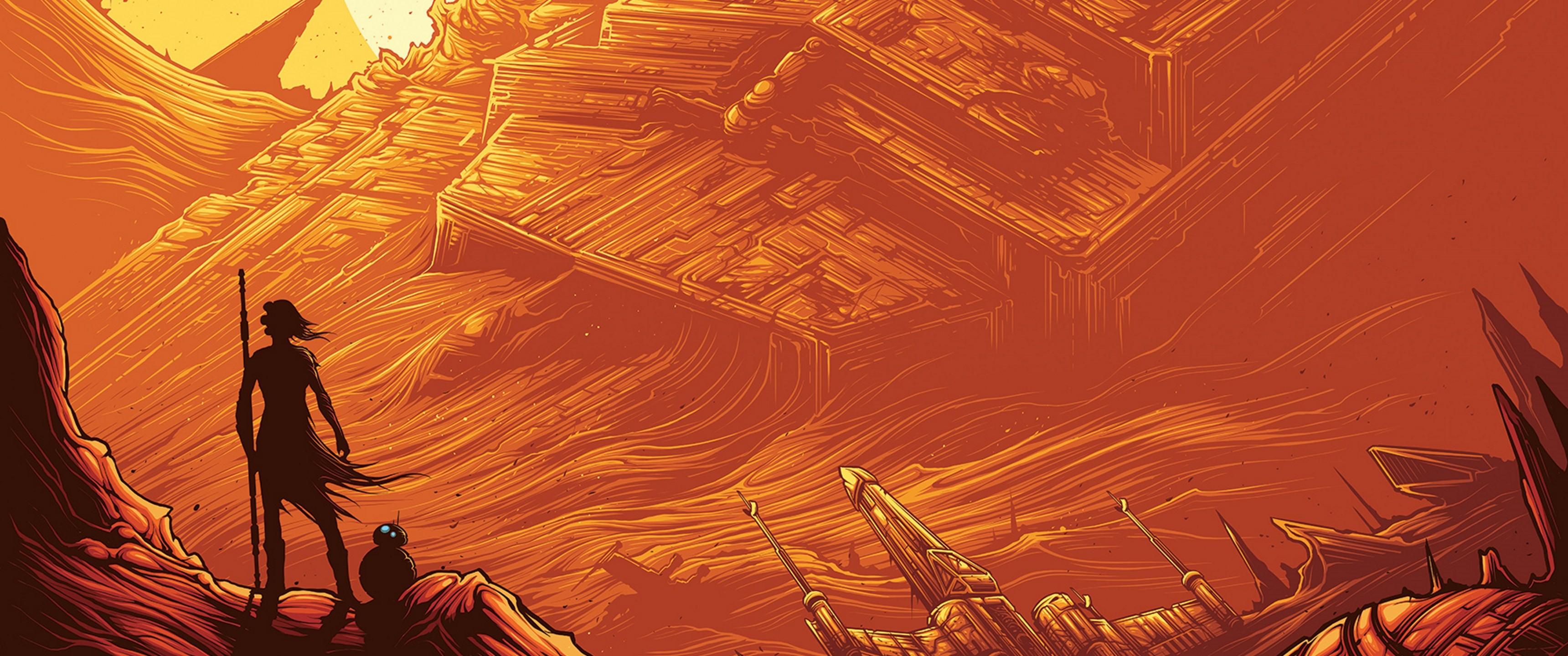 Star Wars The Force Awakens Imax Poster 3440x1440 Download Hd Wallpaper Wallpapertip