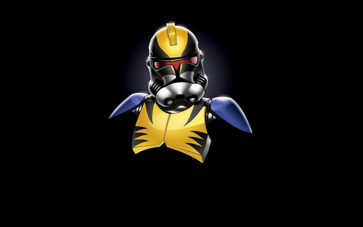 Star Wars Minimalistic Stormtroopers Wolverine Marvel Star Wars Clone Helmet 1200x750 Download Hd Wallpaper Wallpapertip