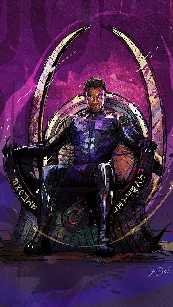 Black Panther King Of Wakanda Art Wallpaper Cool Wallpapers Black Panther King 564x1002 Download Hd Wallpaper Wallpapertip