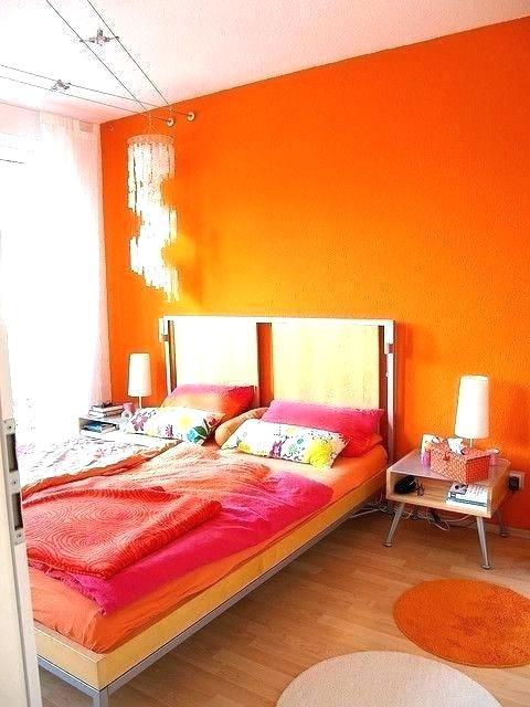 Orange Wall Orange Bedroom Ideas Bedroom Colors Orange Interior Design Use Analogous Color Scheme 480x640 Download Hd Wallpaper Wallpapertip