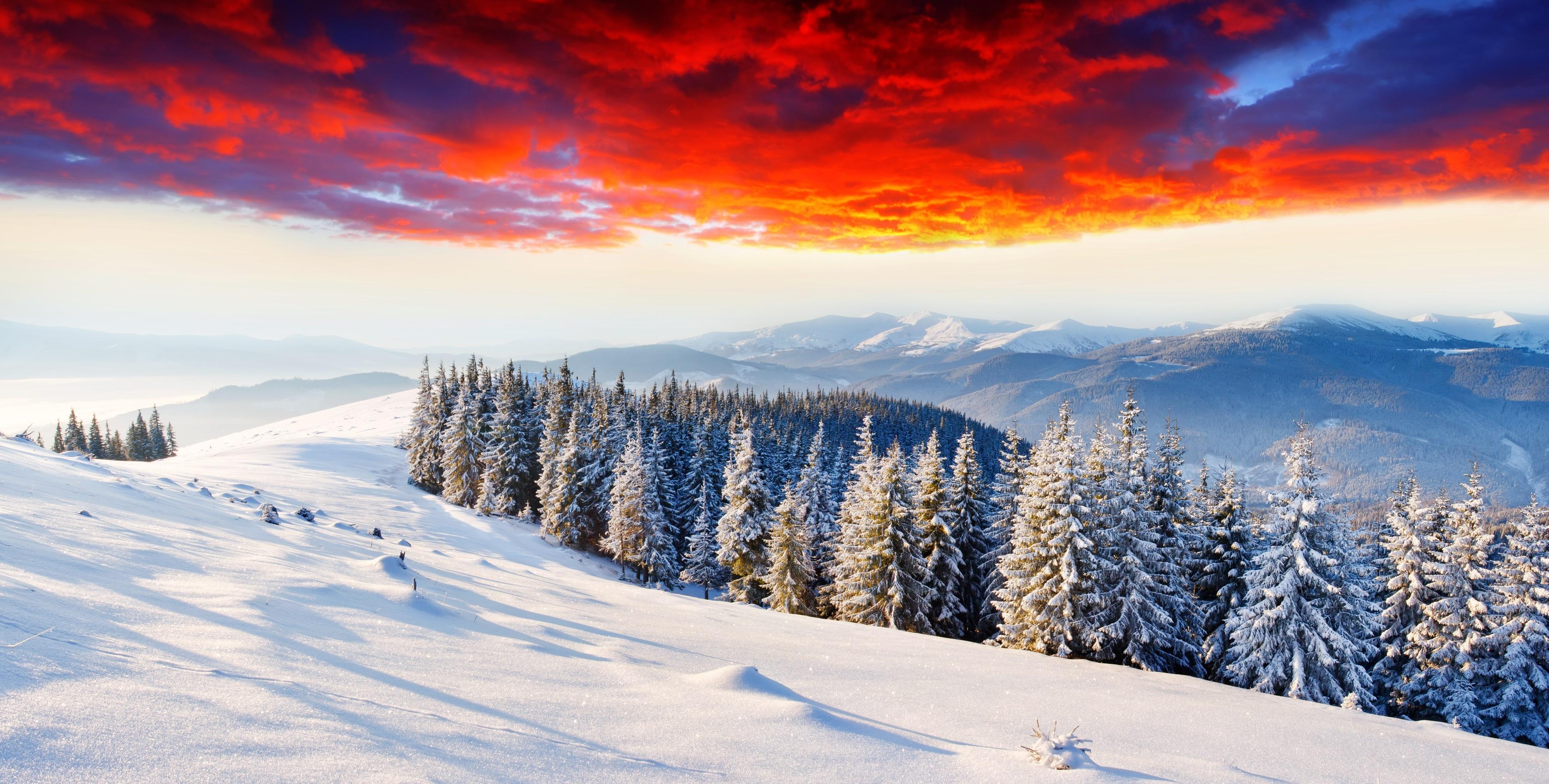 Winter Mountains 4k 3840x1945 Download Hd Wallpaper Wallpapertip