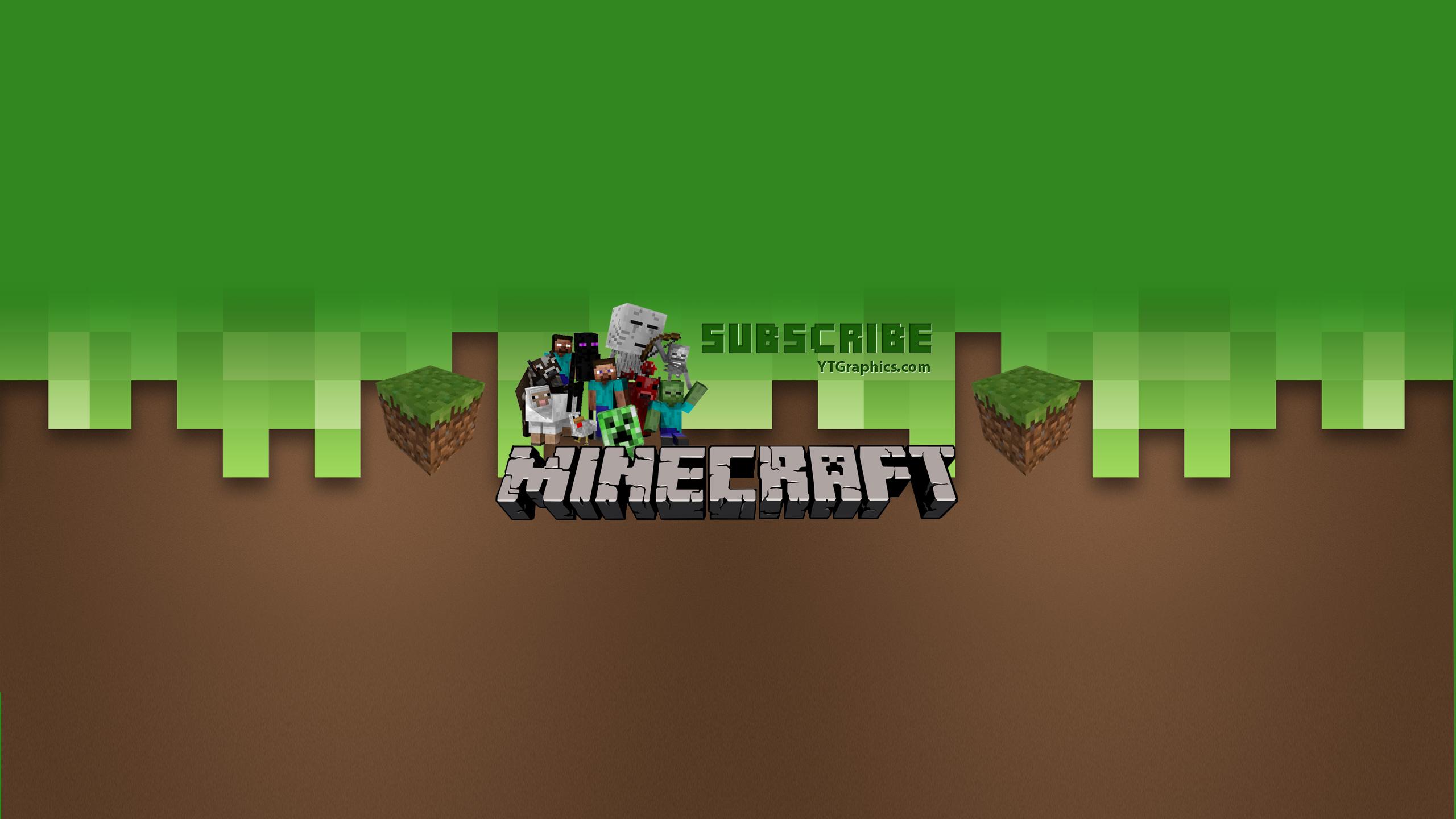 Youtube Of Minecraft Hd Photos Gallery Minecraft Youtube Channel Art Banner 2560x1440 Download Hd Wallpaper Wallpapertip